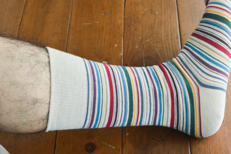 プレゼントで貰った靴下屋の靴下